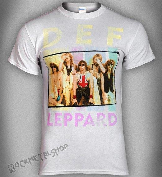 koszulka DEF LEPPARD - SQUARE BOX PHOTO LOGO