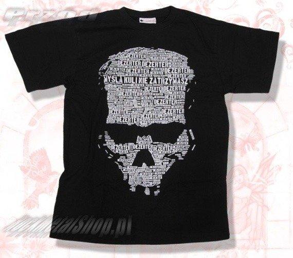 koszulka DEZERTER - MYŚLĄ KULI NIE ZATRZYMASZ czarna