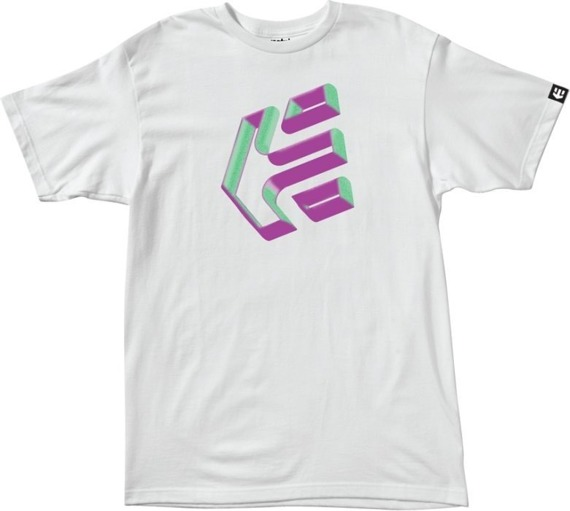 koszulka ETNIES - TRE DIS (WHITE) 09'