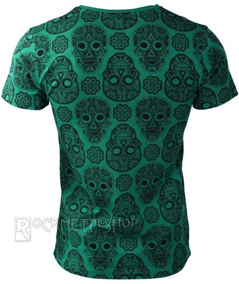 koszulka FULL SKULL  GREEN