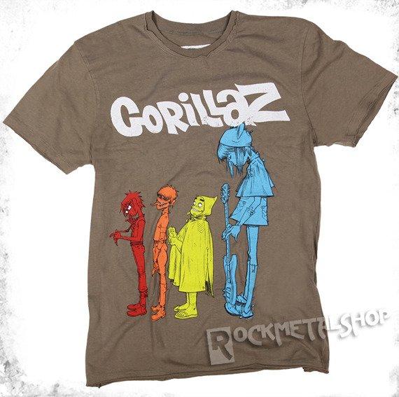 koszulka GORILLAZ - DARE jasnobrązowa
