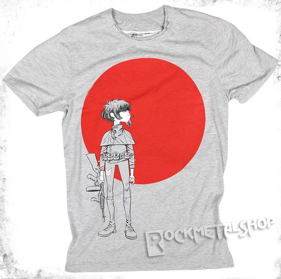 koszulka GORILLAZ - EMPIRE ANTS szary melanż