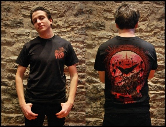 koszulka IRON FIST - REGIN IN HELL (BLACK)