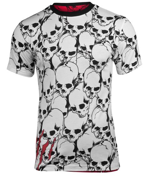 koszulka IRON FIST - TORN SKULL REVERSLIBE (WHITE/RED) 09'