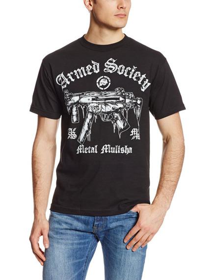 koszulka METAL MULISHA - ARMED N READY czarna