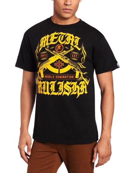 koszulka METAL MULISHA - HEAT (YELLOW) czarna