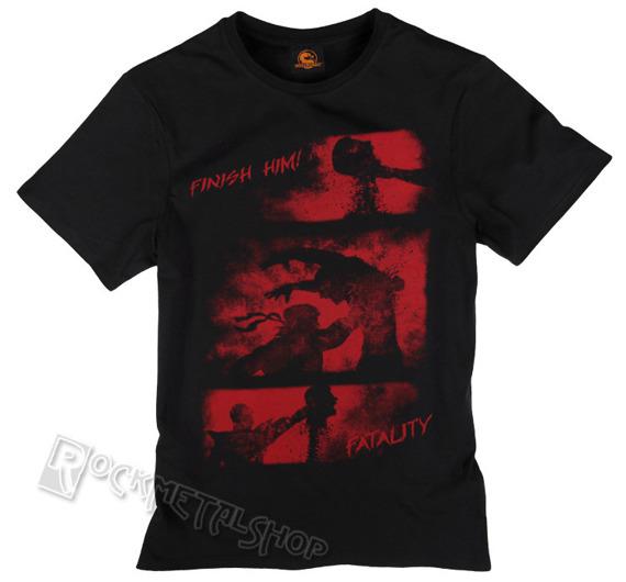 koszulka MORTAL COMBAT - FINISH HIM czarna