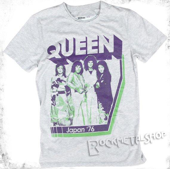 koszulka QUEEN - JAPAN '76 szary melanż