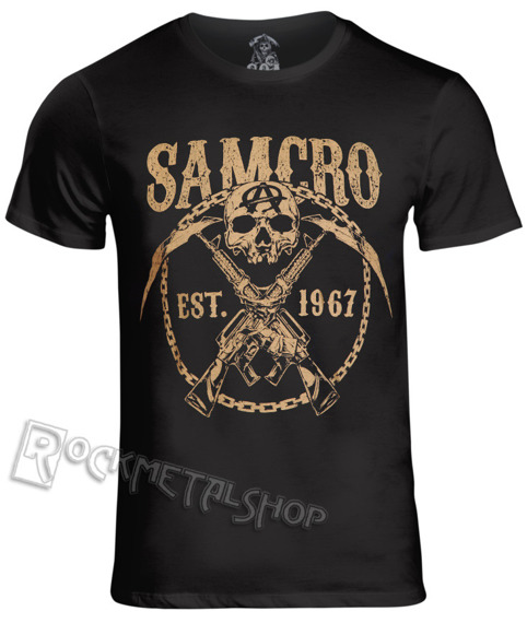 koszulka SONS OF ANARCHY - SAMCRO CHAINED czarna