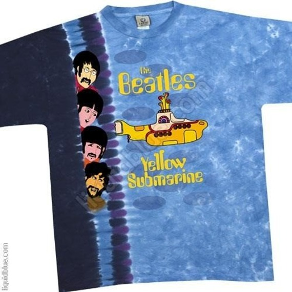 koszulka THE BEATLES - YELLOW SUBMARINE SIDEBAR barwiona