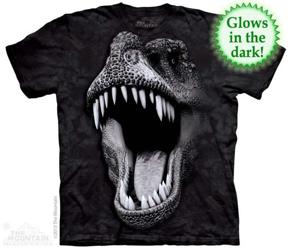 koszulka THE MOUNTAIN - BIG FACE GLOW REX, barwiona