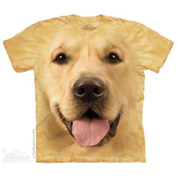 koszulka THE MOUNTAIN - BIG FACE GOLDEN, barwiona