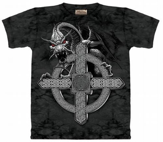 koszulka THE MOUNTAIN - CELTIC CROSS DRAGON