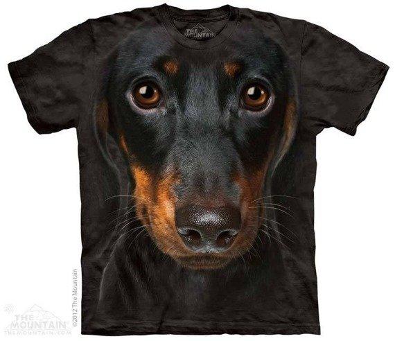 koszulka THE MOUNTAIN - DACHHUND FACE, barwiona