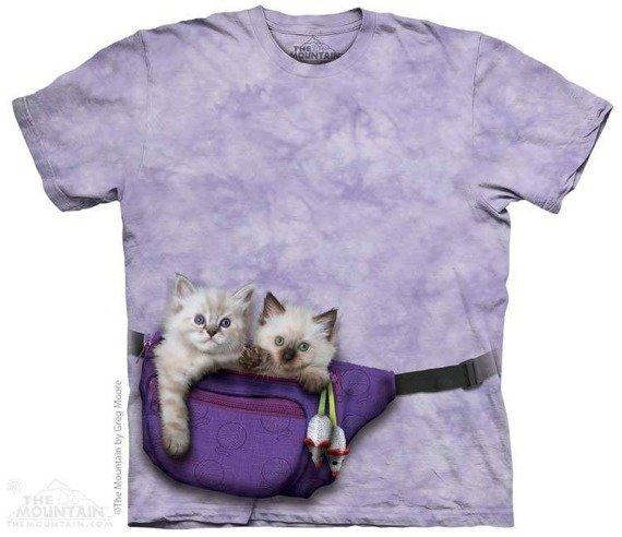 koszulka THE MOUNTAIN - FANNY PACK KITTENS, barwiona