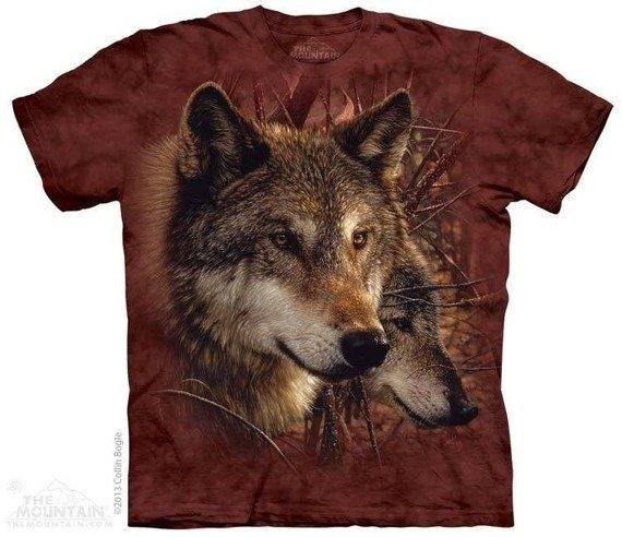 koszulka THE MOUNTAIN - FOREST WOLVES, barwiona