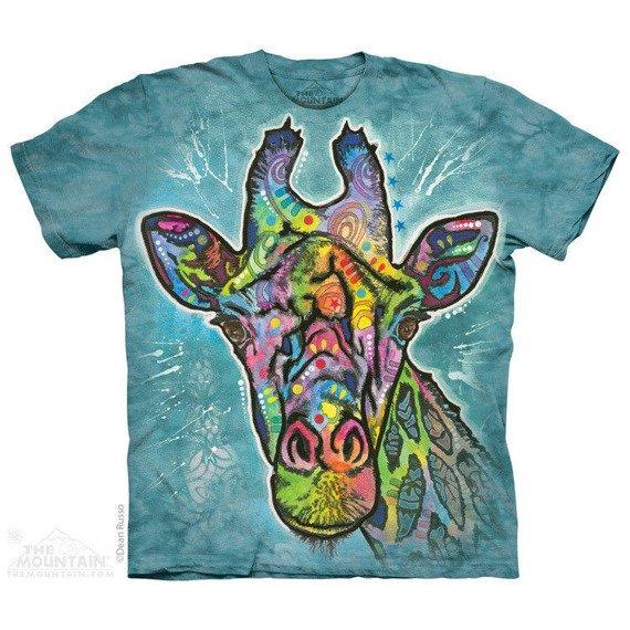 koszulka THE MOUNTAIN - GIRAFFE, barwiona