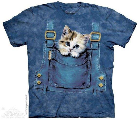 koszulka THE MOUNTAIN - KITTY OVERALLS, barwiona