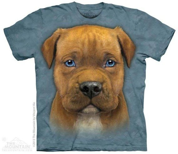 koszulka THE MOUNTAIN - PIT PUPPY, barwiona