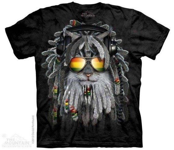 koszulka THE MOUNTAIN - RASTAFURRIAN KITTEN, barwiona