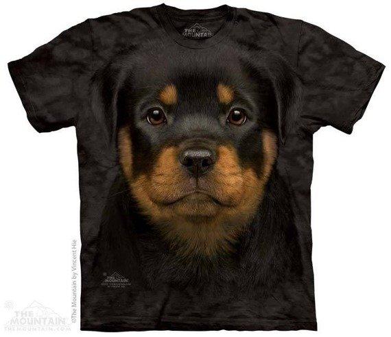 koszulka THE MOUNTAIN - ROTTWEILER PUPPY, barwiona