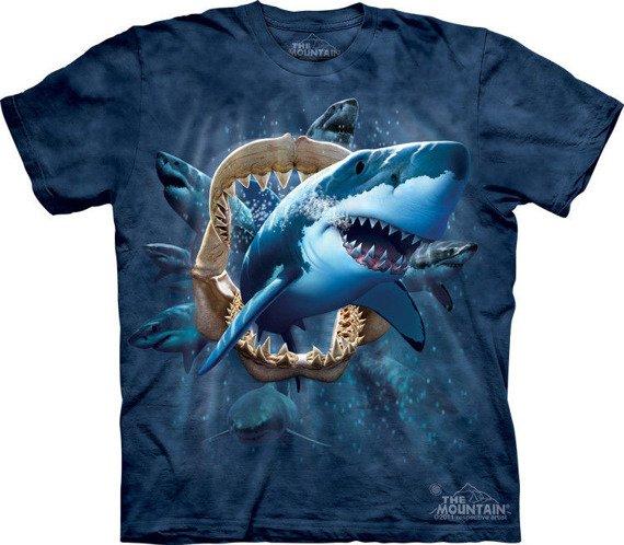 koszulka THE MOUNTAIN - SHARK ATTACK, barwiona