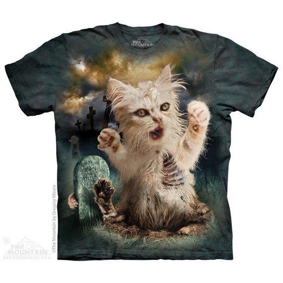 koszulka THE MOUNTAIN - ZOMBIE CAT, barwiona