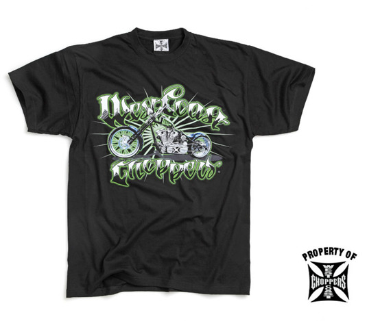 koszulka WEST COAST CHOPPERS - GREEN MACHINE (WCCTS601ZW)