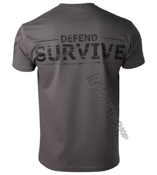 koszulka ZOMBIE - DEFEND SURVIVE szara