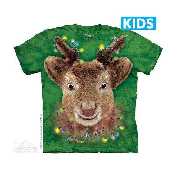 koszulka dziecięca THE MOUNTAIN - LIGHTS REINDEER, barwiona