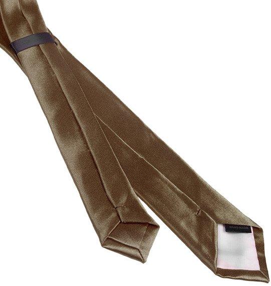 krawat BRĄZOWY