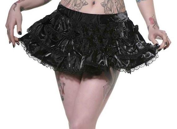 mini spódniczka BLACK ROSES