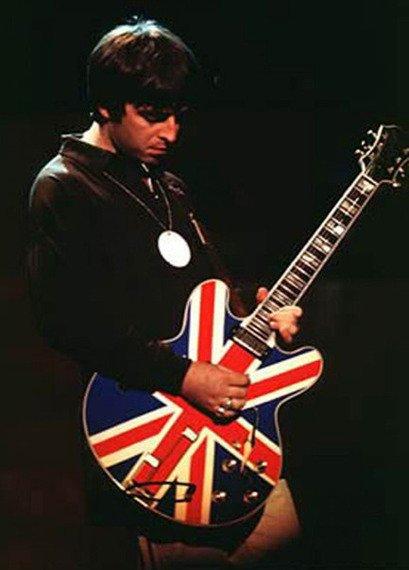 "miniaturka gitary OASIS - NOEL GALLAGHER ""Union Jack"""