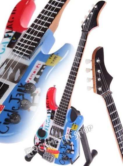 miniaturka gitary RED HOT CHILI PEPPERS - FLEA: PSYCHEDELIC JAZZ BASS