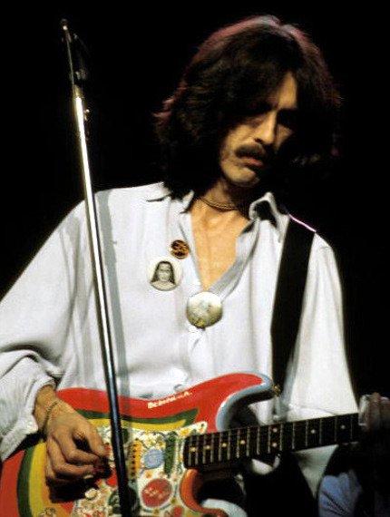 "miniaturka gitary THE BEATLES - GEORGE HARRISON: STRAT ROCKY ""BEBOPALULA"""