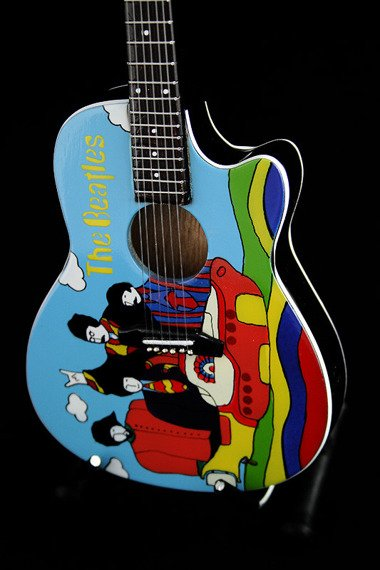 miniaturka gitary THE BEATLES - JOHN LENNON: YELLOW SUBMARINE