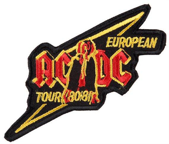 naszywka AC/DC - EUROPEAN TOUR 80/81