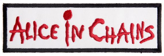 naszywka ALICE IN CHAINS - LOGO WHITE/RED