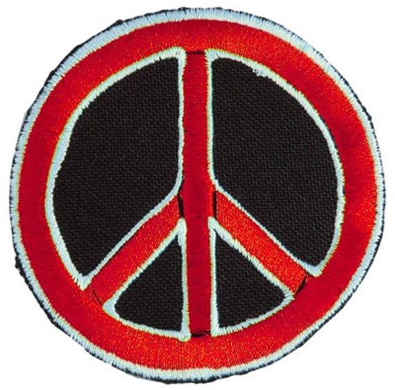 naszywka INDIOS BRAVOS - PEACE RED