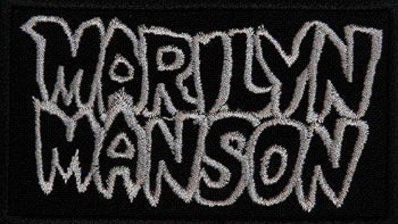 naszywka MARILYN MANSON - LOGO WHITE