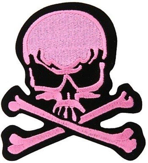 naszywka termiczna SKULL AND CROSSBONES pink (EP.312)