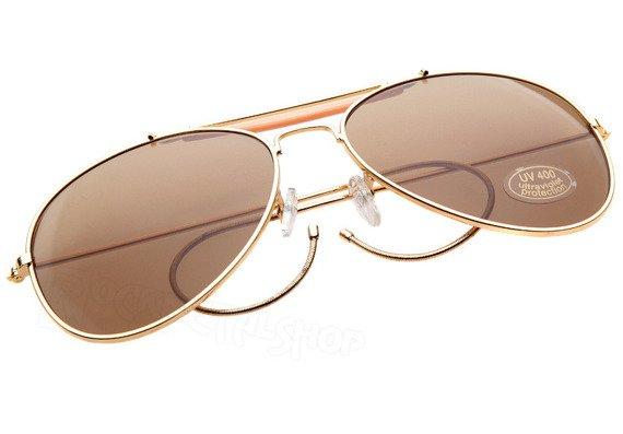 okulary PILOTKI STURM MIL-TEC brąz