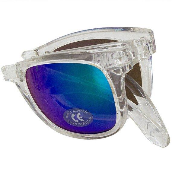 okulary VANS - FOLDABLE SPICOL TRANSPARENT CLEAR