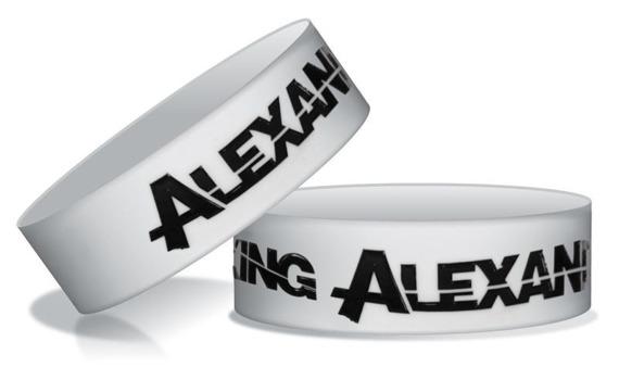 opaska ASKING ALEXANDRIA - LOGO BLACK/WHITE   silikonowa