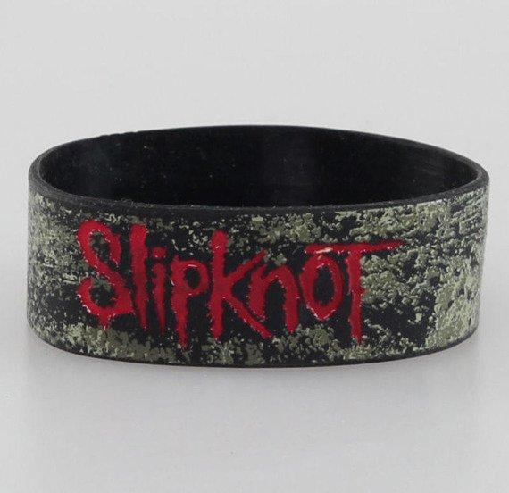 opaska SLIPKNOT - DISTRESSED LOGO, silikonowa