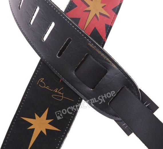 pas do gitary BRIAN MAY - STAR skórzany, 63mm