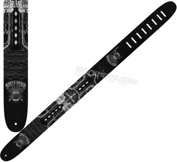 pas do gitary GUNS N'ROSES - CROSS skórzany, 63mm