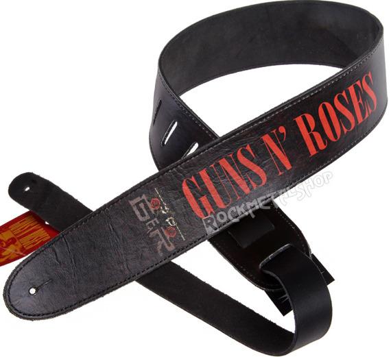 pas do gitary GUNS N'ROSES - LOGO skórzany, 63mm