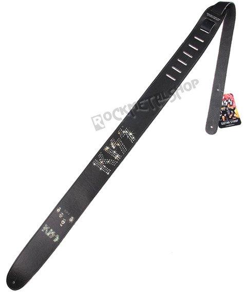 pas do gitary KISS - DIAMOND LOGO skórzany, 63mm