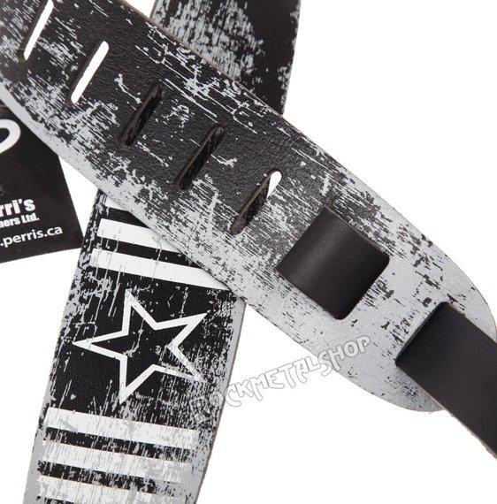 pas do gitary PERRI'S - ARMY STAR skórzany, 63mm